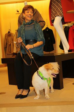 Tina Bacchus and Tucker at Saks