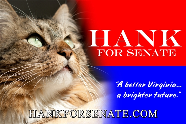 Hank's campaign sign