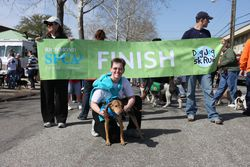 Dog Jog finish line - horizontal