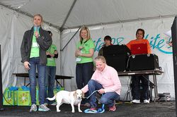 Onstage at Dog Jog