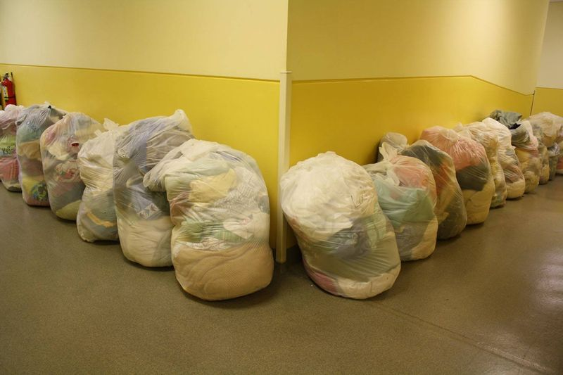 Laundry in hallway