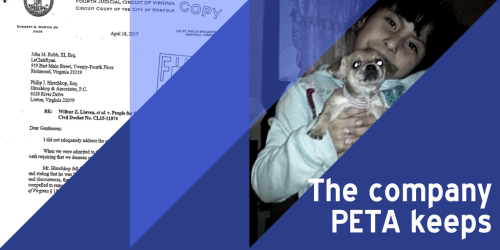 The company PETA keeps
