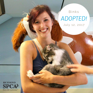 Binks with his adopter