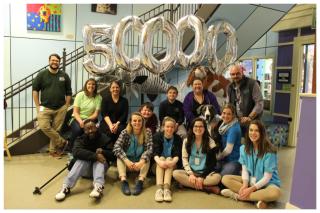 Luna and staff 50K